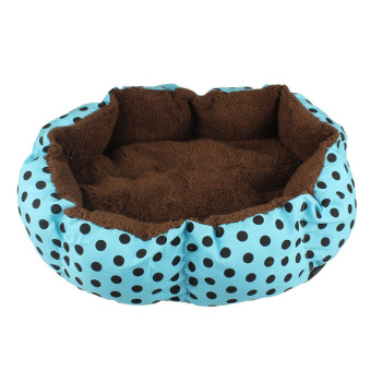 Harga Soft Fleece Pet Dog Puppy Cat Warm Bed House Plush Cozy Nest Mat Pad Blue - Intl