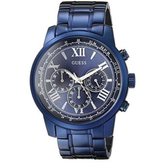 Harga GUESS Mens U0379G5 Iconic Blue Chronograph Watch - intl