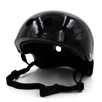 Harga Motor Craze Half Face Crash Safety Passenger Helmet (Shinny Black)