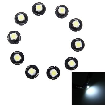 10 PCS 0.5W T4.7 Wedge Instrument Panel LED Light Dashboard Gauge Cluster Indicator Lamp Bulb(White Light) - intl Price Philippines