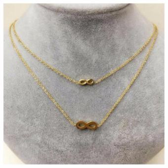 Zea Store Infinite Layered Infinity Chain Necklace (Gold) Price Philippines