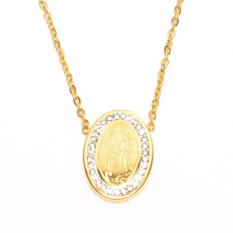 Harga Stainless Steel Mama Mary Pendant Necklace (Gold)