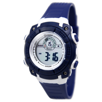 Harga Mingrui Irvin Water Resistant Sports Watch MR-8017076 (Navy Blue)
