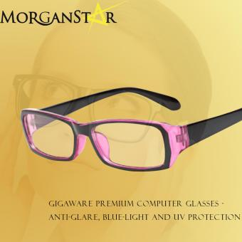 Harga Gigaware Premium Computer Glasses - Anti-Glare, Blue-Light and UV Protection (Pink)