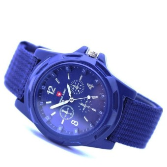 Harga 1688Men's Military Swiss Army Watch (Blue)
