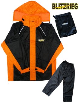 Blitzkrieg® MJ-Series MJ-51 Motorcycle Ultra Durable RainCoat & Jacket Set With Pants Touring (Neon Orange) Price Philippines