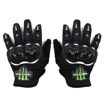 Harga Motor Craze Monster Motorcycle Full Finger Protective Gear Gloves( Black)
