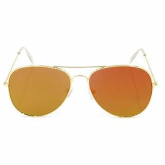Protech Aviator Flat Lens Sunglasses Shades Eyeglasses (Orange/Gold) Price Philippines