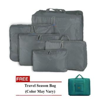 Harga Bags in Bag 5 in1 (Gray) with Free Travel Season Bag (Color May Vary)