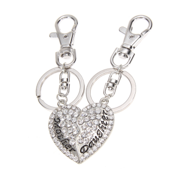 Harga Mom Mother & Daughter BFF Mother's Day Gift Heart Keychain Charm