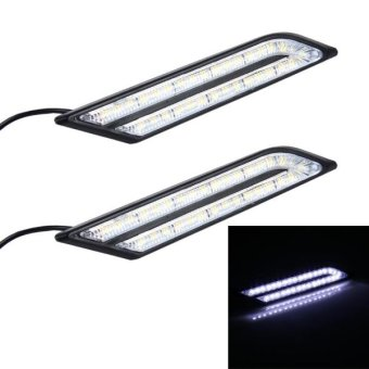 2 PCS 6W 33 LED DRL Daytime Running Lights Lamp, DC 12V(White Light) - intl Price Philippines
