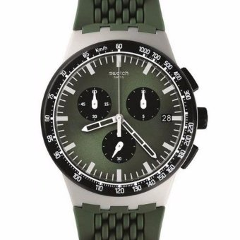 Swatch Men's Chronograph Green Silicone Strap Watch SUSM402 - intl Price Philippines