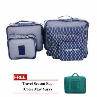 Harga Bags in Bag 6 in 1 (Navy Blue) with Free Travel Season Bag (Color May Vary)