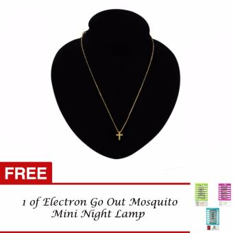 Luxury Gold Cross Necklace with FREE 1 Electron Go Out Mosquito Mini Night Lamp Price Philippines