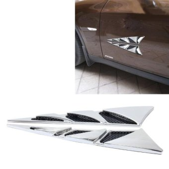 YI-226 2 PCS Car Side Air Intake Flow Vent Fender Decorative Stickers Cover - intl Price Philippines
