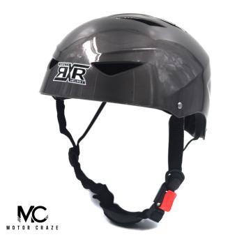 Harga Motor Craze RXR Half Face Crash Safety Plain Passenger Helmet (Black)