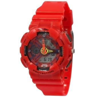 EXPONI Unisex PVC Plastic Strap Sports Watch 3212ME (Red) Price Philippines