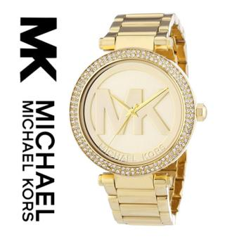 Harga Michael Kors Women's 'Parker' Goldtone Crystal Accent Watch MK5784