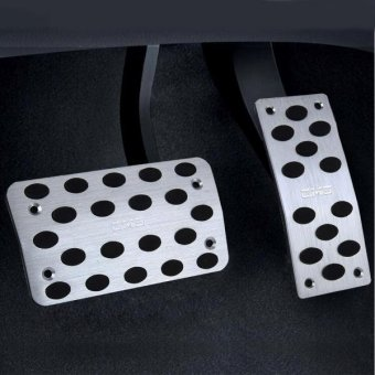 2 PCS Universial Stainless Steel Car Safty Automatic Gas Brake Pedals Pads - intl Price Philippines