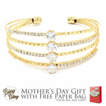 Bling Bling Lulu Gold Bracelet Bangle with Free Paper Bag Price Philippines