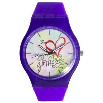 Pic Watch The Heart That Gives Gathers Silicon Strap Watch (Purple) Price Philippines