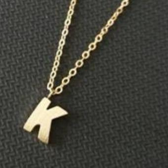 Harga Stainless Letter K Necklace (Gold)