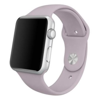Sport Silicone Bracelet Strap Band For Apple Watch iwatch 42mm (Purple) (Intl) Price Philippines