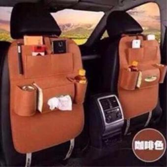 Harga QF Car Auto Seat Back Storage Bag Organizer(BROWN)