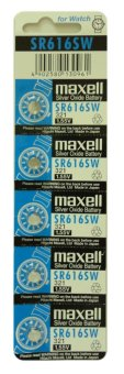 Harga Maxell SR616SW Silver Oxide Battery Pack of 5