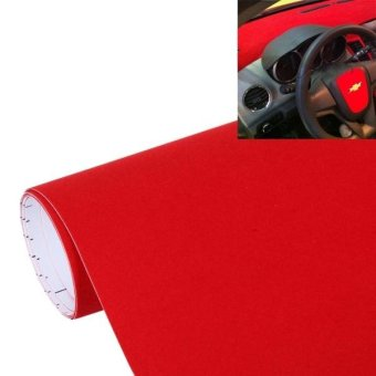 Fur Style High Gloss Carbon Fiber Car Vinyl Wrap Sticker Decal Film, Size: 135cm X 50cm (Red) - intl Price Philippines