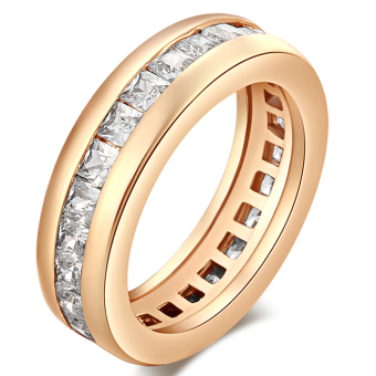 Harga EOZY Female Wedding Rings Hollow Out 18K Gold Plated Rings (Gold) - intl
