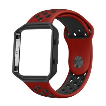 Fitbit Blaze Accessory Silicone Band,Adjustable Replacement Sport Strap Band with Quick Release Pins for Fitbit Blaze Smart Fitness Watch - intl Price Philippines