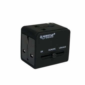 Harga Newstar Universal Travel Charger 2.1A With 2 USB Port NTS-566/BK (Black)