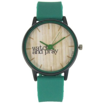 PIC Watch Watch and Pray Green Silicone Strap Watch Price Philippines