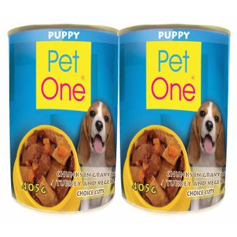 Harga Pet One Puppy Turkey 405g Bundle of 2