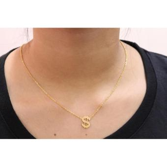 Harga Gold Plated Dollar Necklace