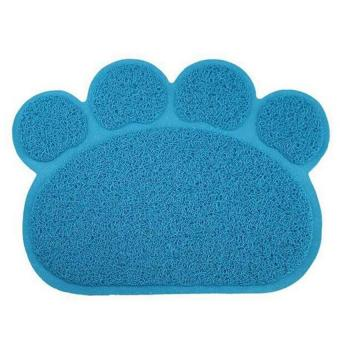 Harga kobwa Dog Paw Shape Feeding Cat Litter Mat Non-slip PVC Pet DogDish Water Bowl Easy Clean-Premium and Soft Mats. - intl