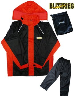 Blitzkrieg® MJ-Series MJ-51 Motorcycle Ultra Durable RainCoat & Jacket Set With Pants Touring (Red) Price Philippines