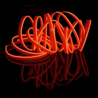 3m Cold Light Flexible LED Strip Light For Car Decoration(Orange Light) - intl Price Philippines