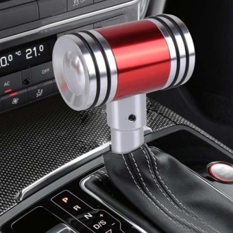 MOMO Universal Hammer Shape Aluminum Manual Or Automatic Gear Shift Knob Compatible With Three Rubber Covers Fit For All Car(Red) - intl Price Philippines