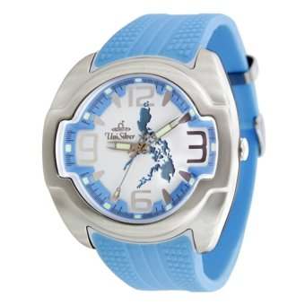 UniSilver TIME Makabayan Dakilang Bayan Unisex Light Blue/Silver/ White Analog Rubber Watch KW689-2333 Price Philippines