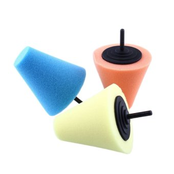 Harga OEM Burnishing Buffing Polishing Cone Sponge Foam Pad Car Wheel Hub Tool Shank (Intl)