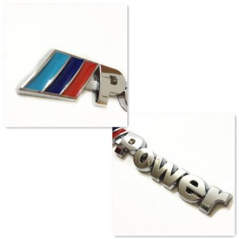 Harga UJS for BMW Power M emblem badge sticker car trunk metal decal M-Power M3 M5 M6 (Intl)