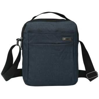Harga Synthetic Linen Men's Business Travel Cool Crossbody Bag(Blue) - intl