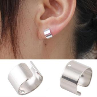 Harga High Quality Store New One Pair Bone Ear Cuff (Silver)