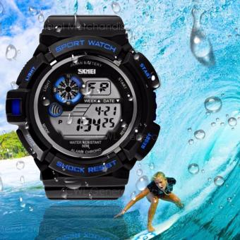 Harga S-Shock S-39 Waterproof Sports LED Men's Watch (Blue)