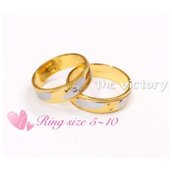 Harga 14K Gold Plated Couple Ring