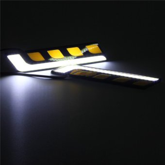 HDL 2xWhite L Shape COB Car LED DRL Fog Light Yellow TurnSwitchbackSignal Lamp Price Philippines