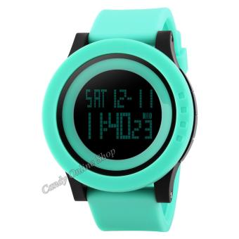 Candy Online Men and Women Digital Electronic Waterproof LED Sport Watch(Green) Price Philippines