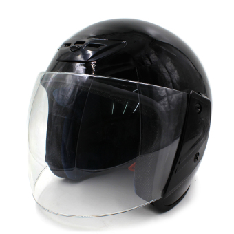 Harga Motor Craze 518 Rounded Open Face Motorcycle Helmet (Black)